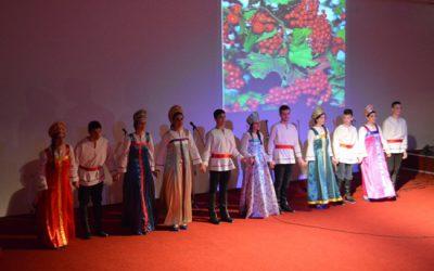 """Гимназијалците со """"Руска романса"""" гостуваа на Меѓународниот Славјански Универзитет по повод рускиот празник Масленица"""