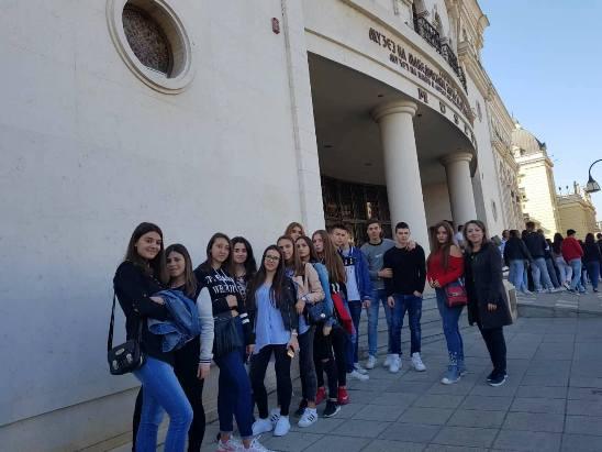 Научно-историска екскурзија во Скопје на учениците во II година