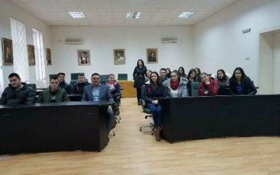 Нашите ученици во посета на Локална Самоуправа Кавадарци