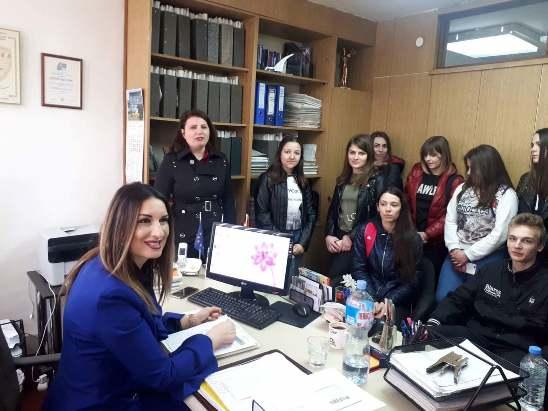 Посета на адвокатска канцеларија во рамките на предметот Практична настава
