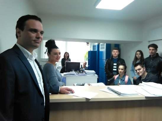 Посета на нотарска канцеларија во рамките на предметот Практична настава