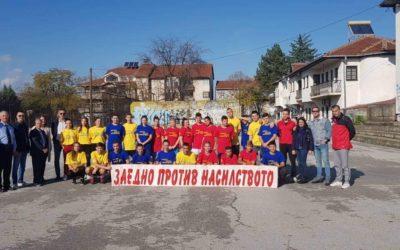 """Ученици од нашата Гиммназија учествуваа на спортски, фудбалски  турнир под мотото: """" Заедно против насилството"""""""
