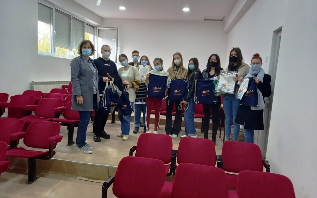 """Учество на СОУ Гимназија """"Добри Даскалов"""" Кавадарци на Филмскиот фестивал за деца и млади  Џифони Македонија"""